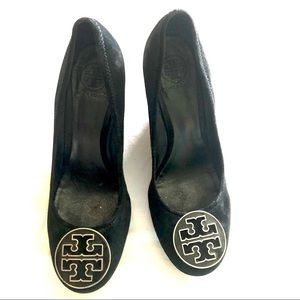 "Tory Burch Chelsea Suede 4"" Wedges"